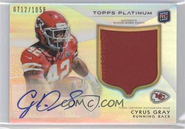 2012 Topps Platinum - Autographed Rookie Refractor Patch #116 - Cyrus Gray /1058