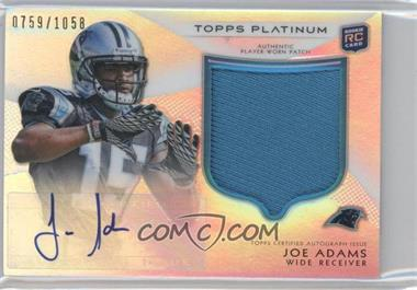 2012 Topps Platinum - Autographed Rookie Refractor Patch #126 - Joe Adams /1058