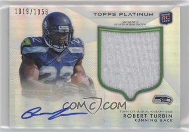 2012 Topps Platinum - Autographed Rookie Refractor Patch #144 - Robert Turbin /1058