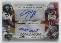 Justin Blackmon, Michael Floyd /25