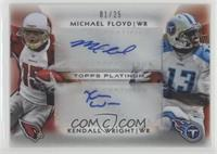 Michael Floyd, Kendall Wright #/25