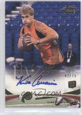 2012 Topps Prime - [Base] - Gold Rookie Autographs [Autographed] #81 - Kirk Cousins /75