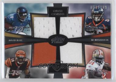 2012 Topps Prime - Quad Combo Relics #QCR-BGTC - A.J. Green, Justin Blackmon, Demaryius Thomas, Michael Crabtree /610