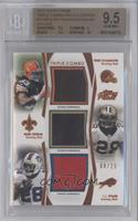 Trent Richardson, Mark Ingram, C.J. Spiller /25 [BGS 9.5 GEM MIN…