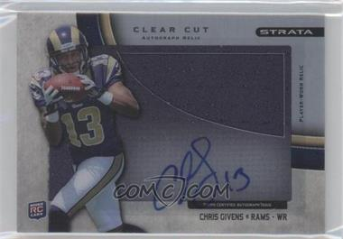 2012 Topps Strata - Clear Cut Autograph Rookie Relics - [Autographed] #CCAR-CG - Chris Givens