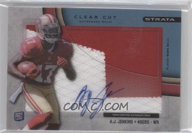 2012 Topps Strata - Clear Cut Autograph Rookie Relics - Blue Patch [Autographed] #CCAR-AJ - A.J. Jenkins /75