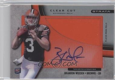 2012 Topps Strata - Clear Cut Autograph Rookie Relics - Platinum [Autographed] #CCAR-BW - Brandon Weeden /1