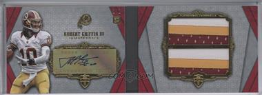 2012 Topps Supreme - Autographed Double Jumbo Relics Book - Red Patch #SADJR-RG - Robert Griffin III /1