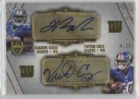 Hakeem Nicks, Victor Cruz /25