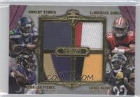 Bernard Pierce, LaMichael James, Robert Turbin, Bobby Rainey #/5