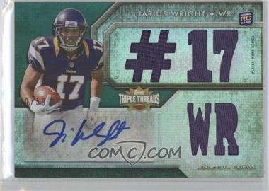 2012 Topps Triple Threads - [Base] - Emerald #116.2 - Jarius Wright (#17 WR)