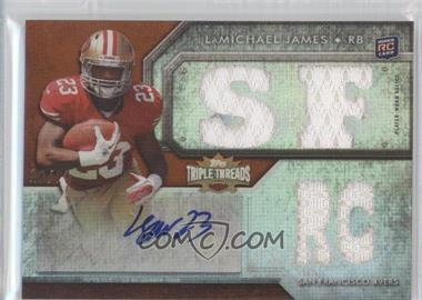 2012 Topps Triple Threads - [Base] - Gold #109 - LaMichael James /25