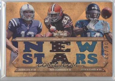 2012 Topps Triple Threads - Relic Combos - Sepia #TTRC-12 - Andrew Luck, Trent Richardson, Justin Blackmon /27