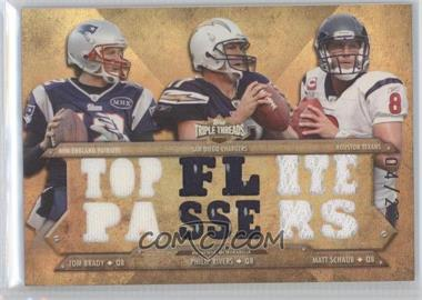 2012 Topps Triple Threads - Relic Combos - Sepia #TTRC-23 - Tom Brady, Philip Rivers, Matt Schaub /27