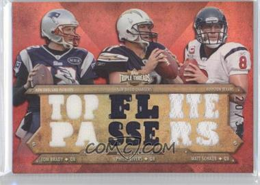 2012 Topps Triple Threads - Relic Combos #TTRC-23 - Tom Brady, Philip Rivers, Matt Schaub /36