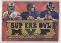 Drew Brees, Aaron Rodgers, Eli Manning #/36