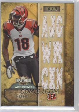 2012 Topps Triple Threads - Relics - Gold #TTR-68 - A.J. Green /9