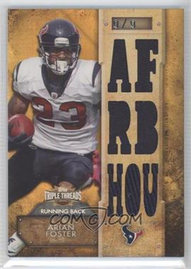 2012 Topps Triple Threads - Relics - Gold #TTR-89 - Arian Foster /9