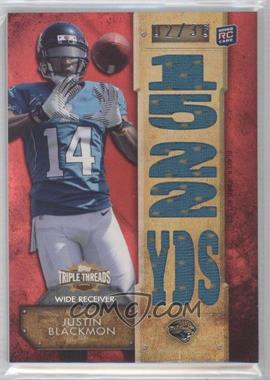2012 Topps Triple Threads - Relics #TTR-27 - Justin Blackmon /36