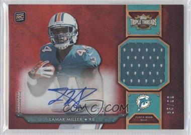 2012 Topps Triple Threads - Rookie Autograph Relics #TTRAR-30 - Lamar Miller /99