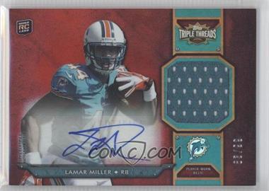 2012 Topps Triple Threads - Rookie Autograph Relics #TTRAR-31 - Lamar Miller /99