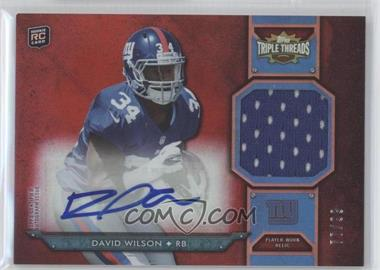 2012 Topps Triple Threads - Rookie Autograph Relics #TTRAR-52 - David Wilson /99
