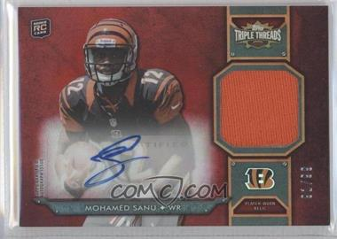 2012 Topps Triple Threads - Rookie Autograph Relics #TTRAR-56 - Mohamed Sanu /99