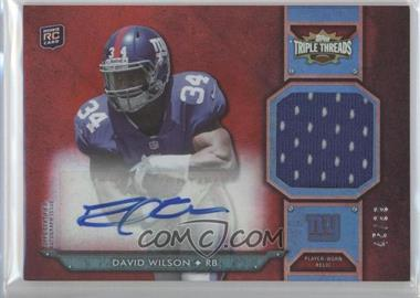 2012 Topps Triple Threads - Rookie Autograph Relics #TTRAR-57 - David Wilson /99