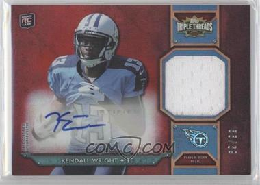 2012 Topps Triple Threads - Rookie Autograph Relics #TTRAR-59 - Kendall Wright /99
