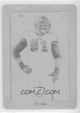 2012 Topps Turkey Red - [Base] - Printing Plate Black #77 - Fletcher Cox /1