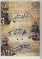 Brandon Weeden, Trent Richardson, Josh Gordon #/10