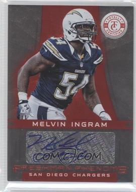 2012 Totally Certified - [Base] - Platinum Red #154 - Melvin Ingram /290