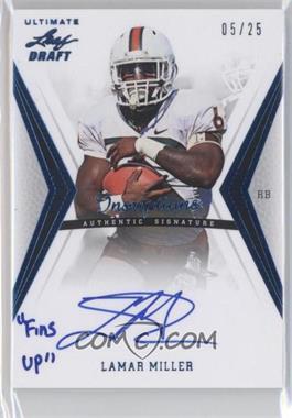 2012 Ultimate Leaf Draft - Inscriptions - Blue #LM1 - Lamar Miller /25