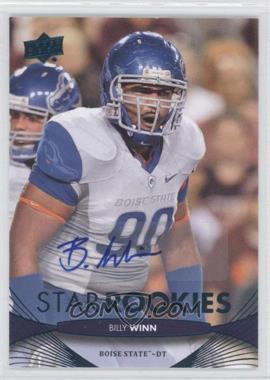 2012 Upper Deck - [Base] - Star Rookies Autographs [Autographed] #157 - Billy Winn