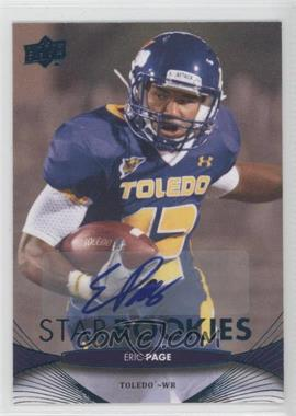 2012 Upper Deck - [Base] - Star Rookies Autographs [Autographed] #208 - Eric Page