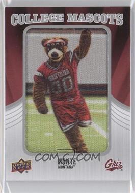 2012 Upper Deck - College Mascots Manufactured Patch #CM-30 - Monte (Montana)