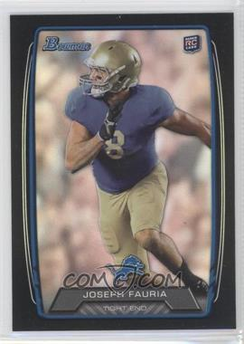 2013 Bowman - [Base] - Black Rainbow Foil #184 - Joseph Fauria