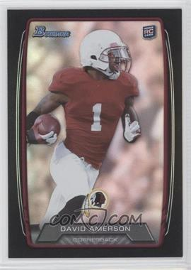 2013 Bowman - [Base] - Black Rainbow Foil #217 - David Amerson