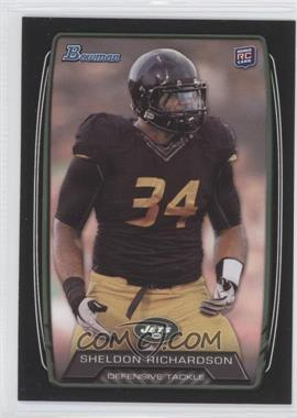 2013 Bowman - [Base] - Black #133 - Sheldon Richardson