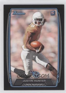 2013 Bowman - [Base] - Black #196 - Justin Hunter