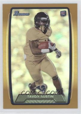 2013 Bowman - [Base] - Gold Rainbow Foil #130 - Tavon Austin /399