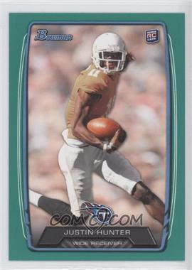 2013 Bowman - [Base] - Green #196 - Justin Hunter /99