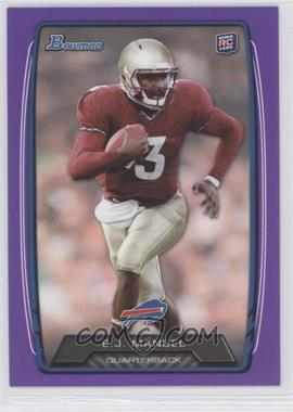 2013 Bowman - [Base] - Purple #127 - EJ Manuel