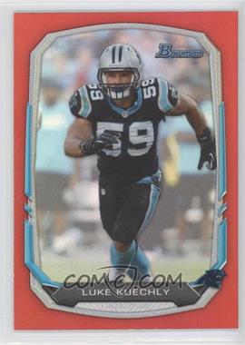 2013 Bowman - [Base] - Red Rainbow Foil #12 - Luke Kuechly /25