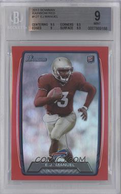 2013 Bowman - [Base] - Red Rainbow Foil #127 - EJ Manuel /199 [BGS 9 MINT]
