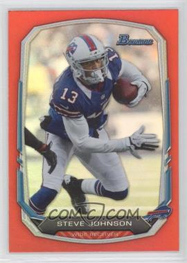 2013 Bowman - [Base] - Red Rainbow Foil #63 - Steve Johnson /25