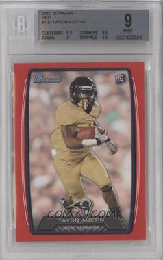 2013 Bowman - [Base] - Red #130 - Tavon Austin /199 [BGS 9]