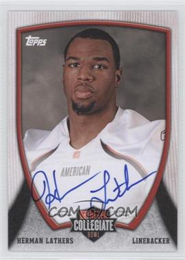 2013 Bowman - NFLPA Collegiate Bowl Autographs #12 - Herman Lathers