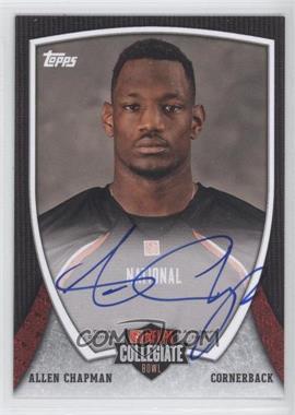 2013 Bowman - NFLPA Collegiate Bowl Autographs #74 - Allen Chapman