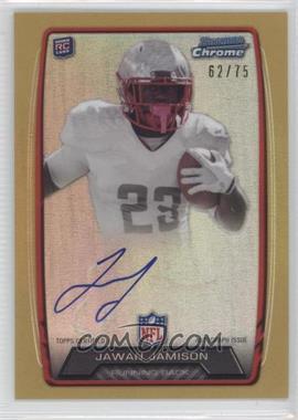 2013 Bowman - Rookie Chrome Refractor Autograph - Gold [Autographed] #RCRA-JJA - Jawan Jamison /75